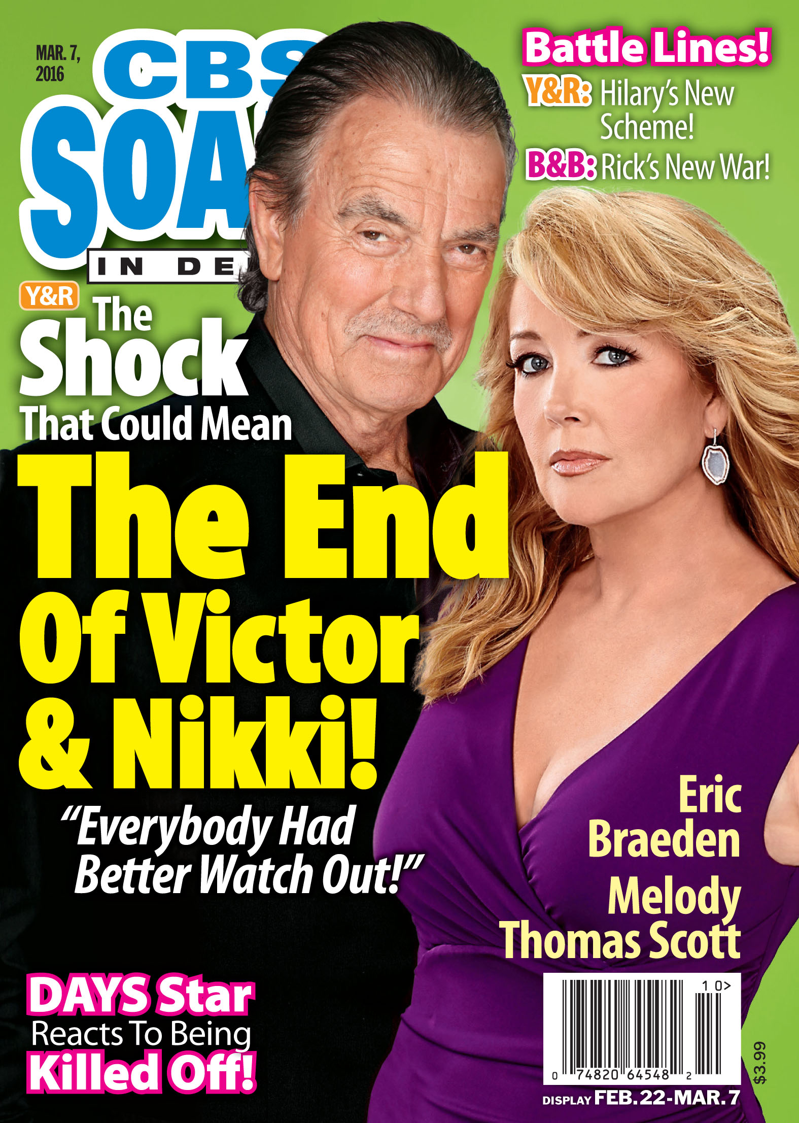 In This Issue of CBS Soaps In Depth